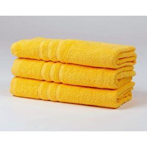 Dobrý Textil Osuška Economy 70x140 - Žlutá | 70 x 140 cm