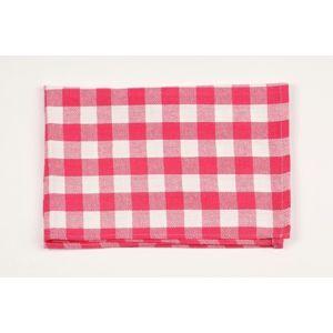 Dobrý Textil Bavlnená utierka KARIN - Červená / bílá