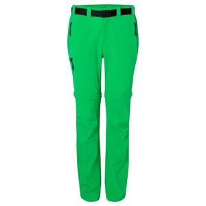 James & Nicholson Dámske outdoorové nohavice s odopínateľnými nohavicami JN1201 - Kapradinová | XS