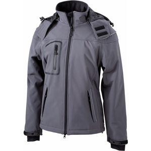 James & Nicholson Zimná dámska softshellová bunda JN1001 - Tmavě šedá | XL