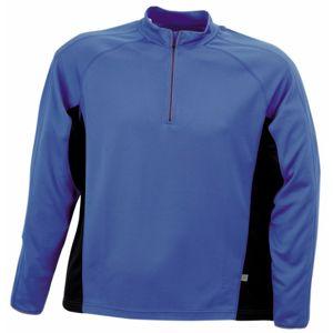 James & Nicholson Pánske športové tričko s dlhým rukávom JN307 - Královská modrá / černá | XXXL