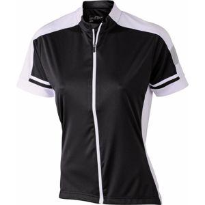 James & Nicholson Dámsky cyklistický dres JN453 - Černá | XXL