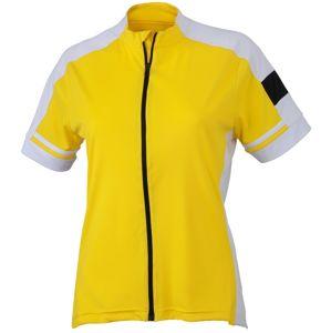 James & Nicholson Dámsky cyklistický dres JN453 - Slunečně žlutá | L