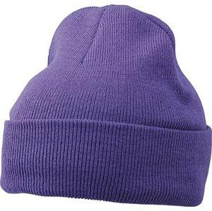 Myrtle Beach Zimná čiapka Classic MB7500 - Tmavě fialová