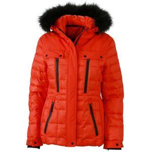 James & Nicholson Športová dámska zimná bunda JN1101 - Grenadina / černá | L