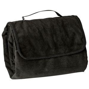 James & Nicholson Pikniková deka 130x150 cm JN953 - Černá | 130 x 150 cm