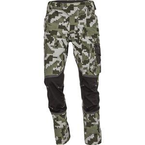 Červa Pánské pracovní kalhoty NEURUM CAMOUFLAGE - Tmavě olivová | 60