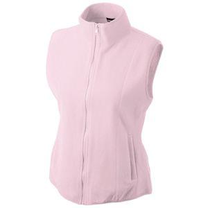 James & Nicholson Dámska fleecová vesta JN048 - Světle růžová | XL