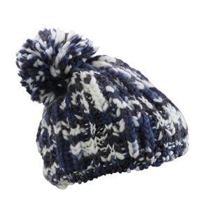 Myrtle Beach Pletená čiapka s brmbolcom MB7977 - Tmavě modrá / šedo-bílá | uni