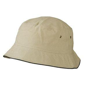 Myrtle Beach Bavlnený klobúk MB012 - Khaki / černá | L/XL