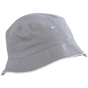 Myrtle Beach Bavlnený klobúk MB012 - Šedá / světle růžová | S/M