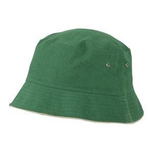 Myrtle Beach Bavlnený klobúk MB012 - Tmavě zelená / béžová | L/XL