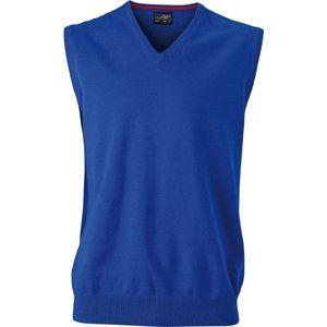 James & Nicholson Pánsky sveter bez rukávov JN657 - Královská modrá | M