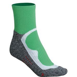 James & Nicholson Športové ponožky členkové JN210 - Zelená | 45-47