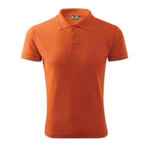 Adler Pánska polokošeľa Pique Polo - Oranžová | XXXXL