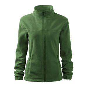 Adler Dámska fleecová mikina Jacket - Lahvově zelená   M