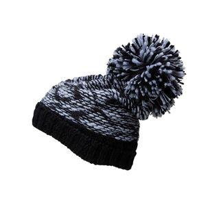 Myrtle Beach Pletená čiapka s veľkým brmbolcom MB7105 - Světle šedá / černá   uni
