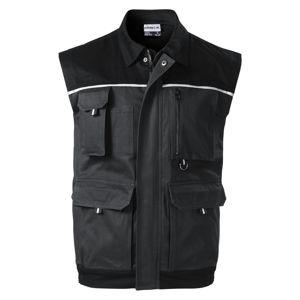 Adler Pracovná vesta Woody - Ebony gray | S
