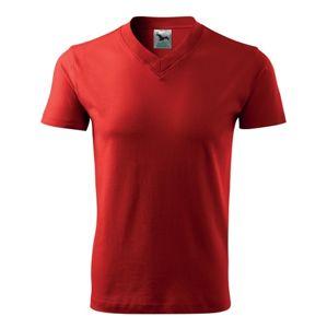 Adler Tričko V-neck - Červená | XXXL