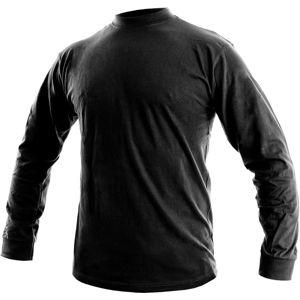 Canis Pánske tričko s dlhým rukávom PETR - Černá | M