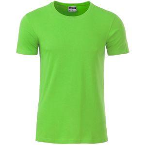 James & Nicholson Klasické pánske tričko z biobavlny 8008 - Limetkově zelená   S