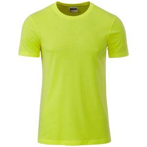 James & Nicholson Klasické pánske tričko z biobavlny 8008 - Žlutozelená | XL
