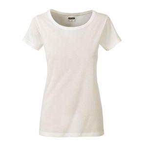 James & Nicholson Klasické dámske tričko z biobavlny 8007 - Přírodní   L