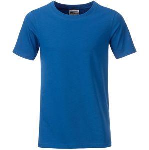 James & Nicholson Klasické chlapčenské tričko z biobavlny 8008B - Královská modrá | L