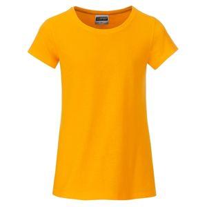 James & Nicholson Klasické dievčenské tričko z biobavlny 8007G - Zlatě žlutá | L