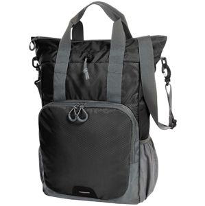 Halfar Viacúčelový batoh a taška 2v1 - Černá