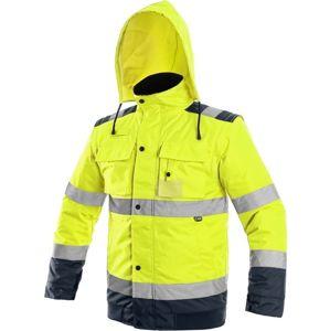 Canis Reflexná bunda 2v1 LUTON - Žlutá / tmavě modrá | M