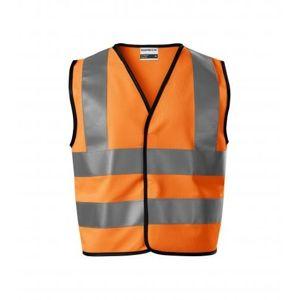Adler Detská bezpečnostná vesta HV Bright - Reflexní oranžová   104-128 cm (4-6 let)